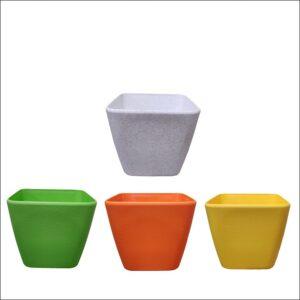Yoidentity Square Colored Plastic Pot